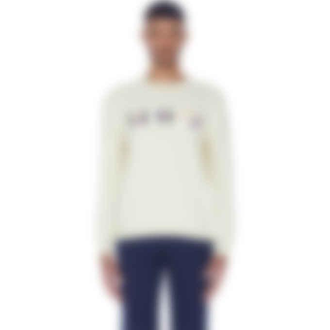 Kenzo - Multicolor Logo Knit Pullover Sweater - Cream