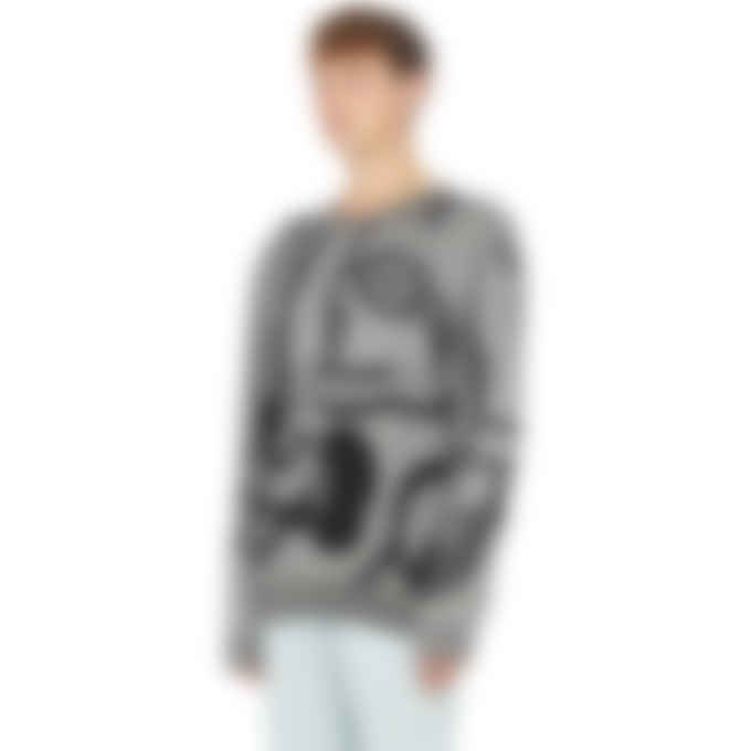 Kenzo - K-Tiger Knit Pullover Sweater - Pale Grey
