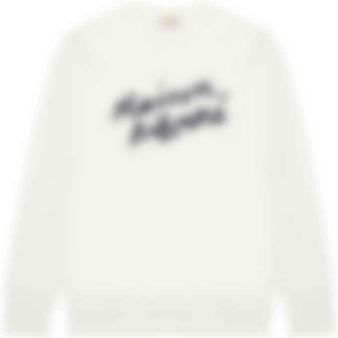 Maison Kitsuné - Handwriting Clean Pullover Sweaters - Ecru