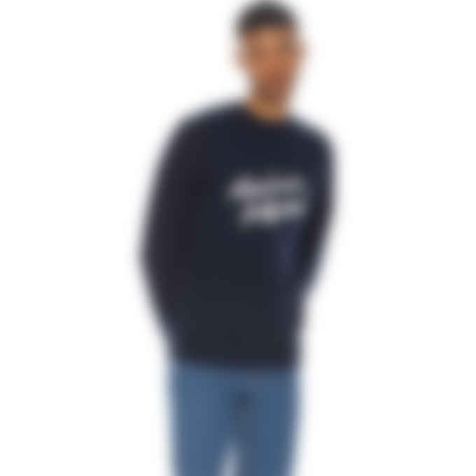 Maison Kitsuné - Handwriting Clean Pullover Sweaters - Navy