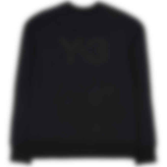 Y-3 - Classic Back Logo Crew Pullover Sweater - Black