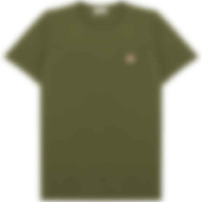 Maison Kitsuné - Fox Head Patch Classic T-Shirt - Khaki