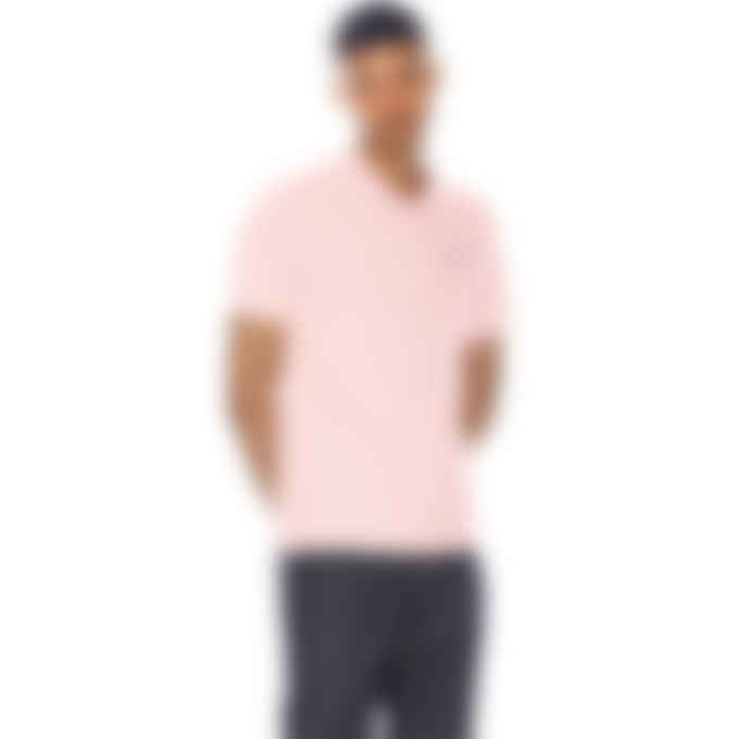 Maison Kitsuné - Navy Fox Patch Classic Polo Shirt - Light Pink