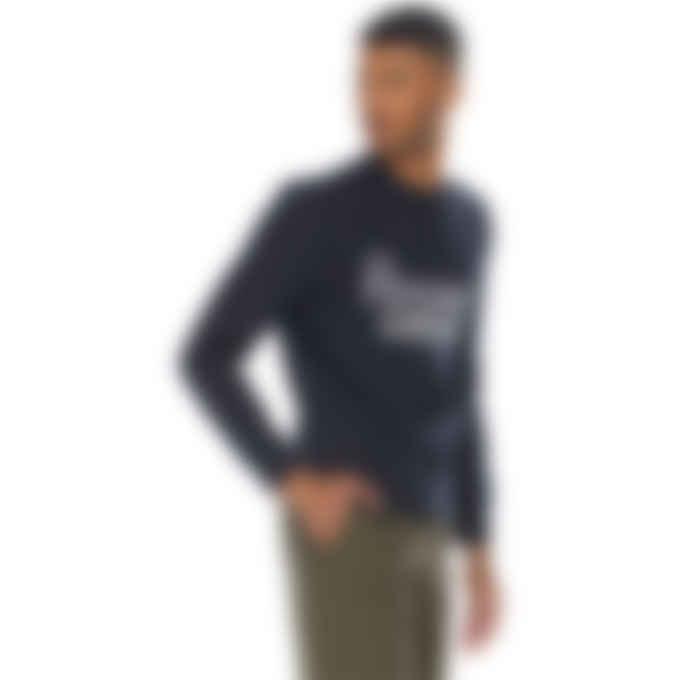 Maison Kitsuné - Parisien Mirror Pullover Sweater - Dark Navy