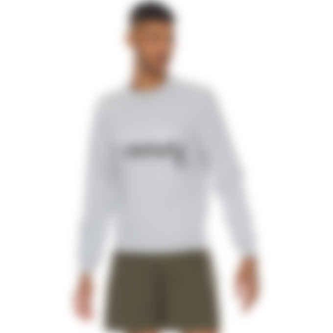 Maison Kitsuné - Parisien Mirror Pullover Sweater - Grey Melange