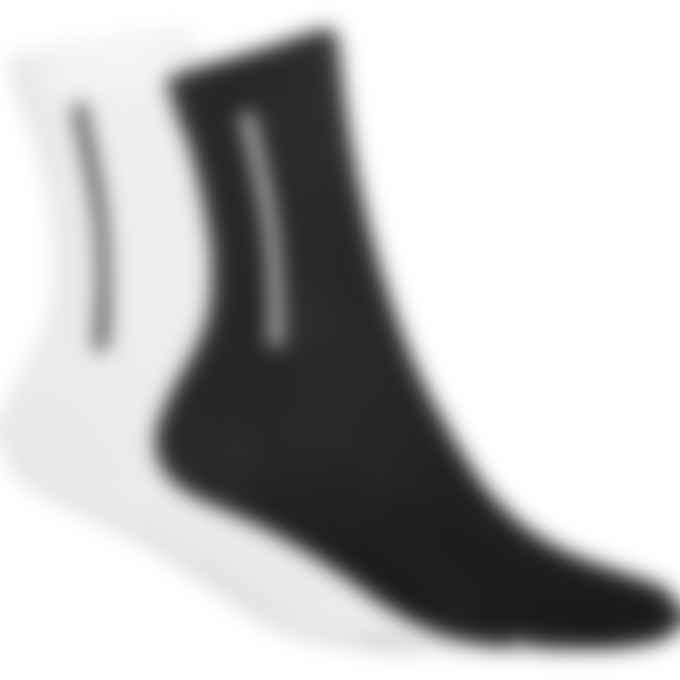Y-3 - Two Pair Crew Socks - Black/White