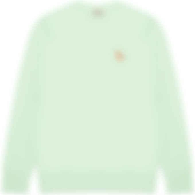 Maison Kitsuné - Chillax Fox Patch Classic Pullover Sweater - Mint