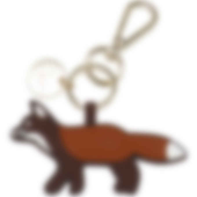 Maison Kitsuné - Profile Fox Silicone Keyring - Brown