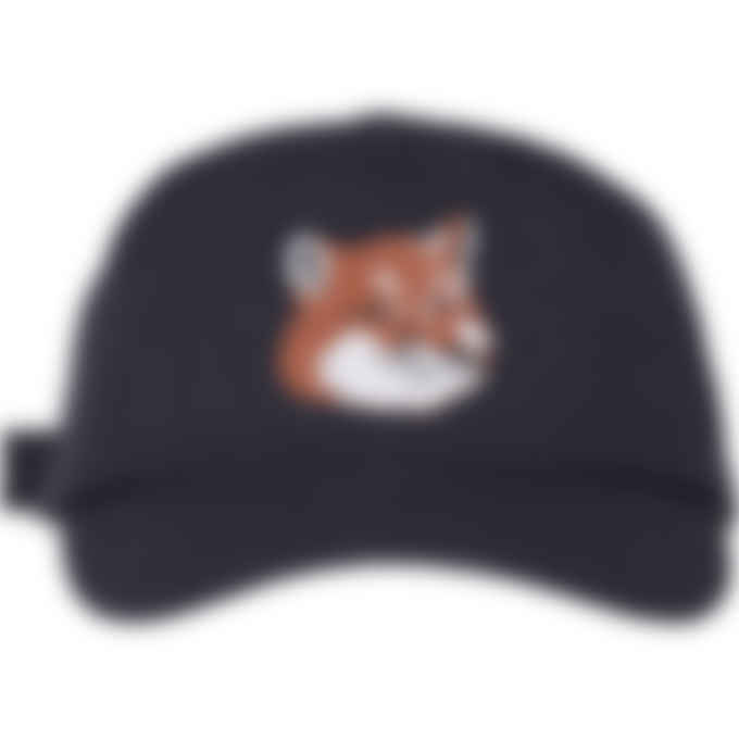 Maison Kitsuné - Large Fox Head Cap - Navy