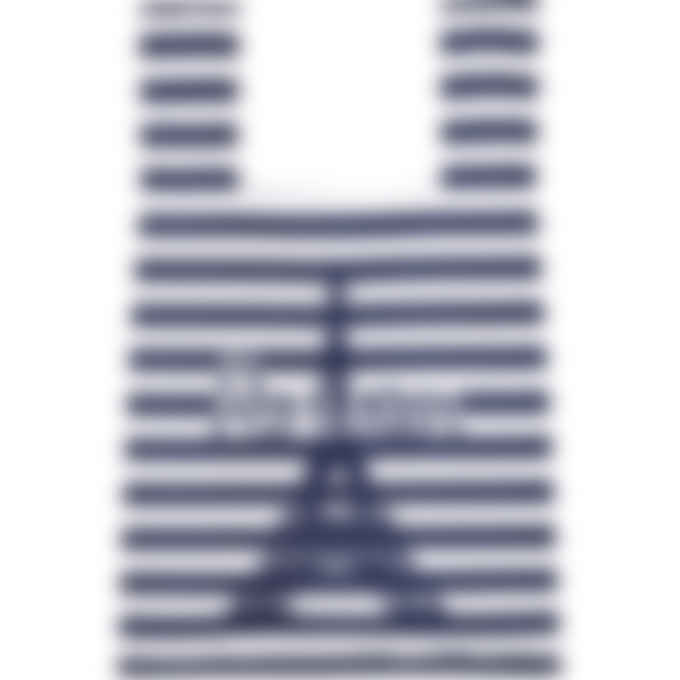 Maison Kitsuné - Parisien Tower Stripes Nylon Bag - Navy Stripe