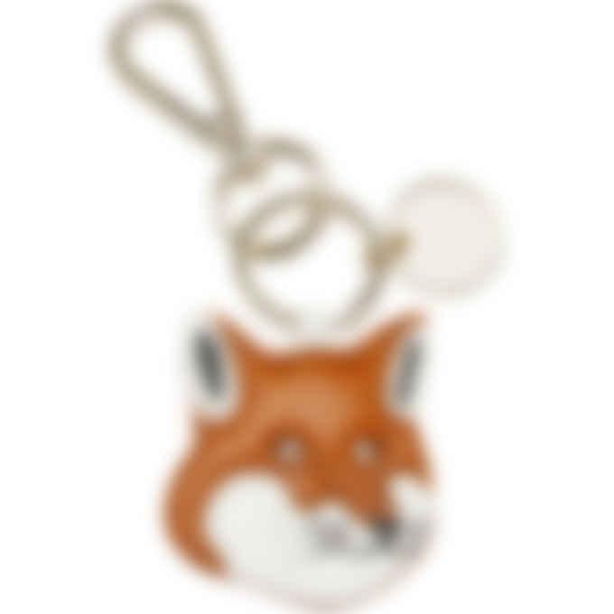 Maison Kitsuné - Fox Head Leather Keyring - Camel