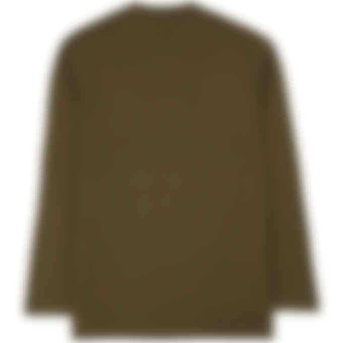 Y-3 - Classic Chest Logo Long Sleeve T-Shirt - Khaki