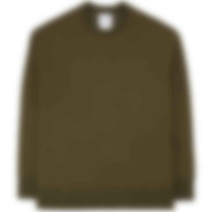 Y-3 - Classic Chest Logo Crew Pullover Sweater - Khaki