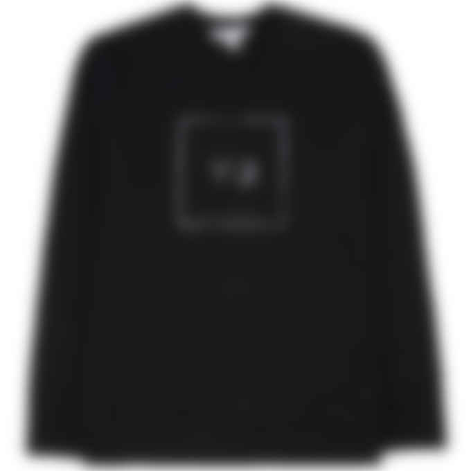 Y-3 - Square Label Graphic Crew Pullover Sweater - Black