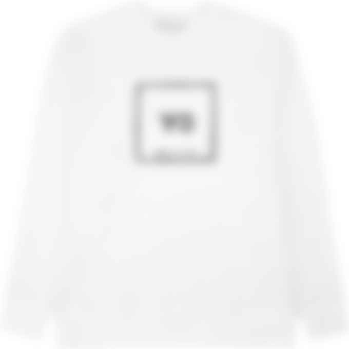 Y-3 - Square Label Graphic Crew Pullover Sweater - Core White