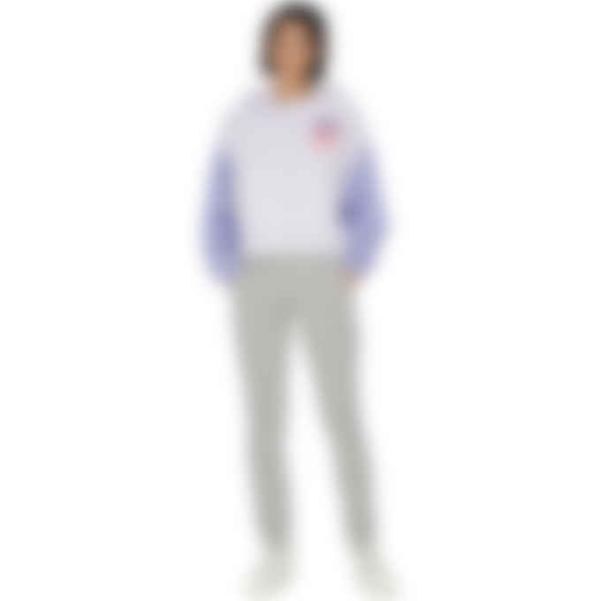 adidas Originals - Logo Play Cropped Hoodie - Purple Tint
