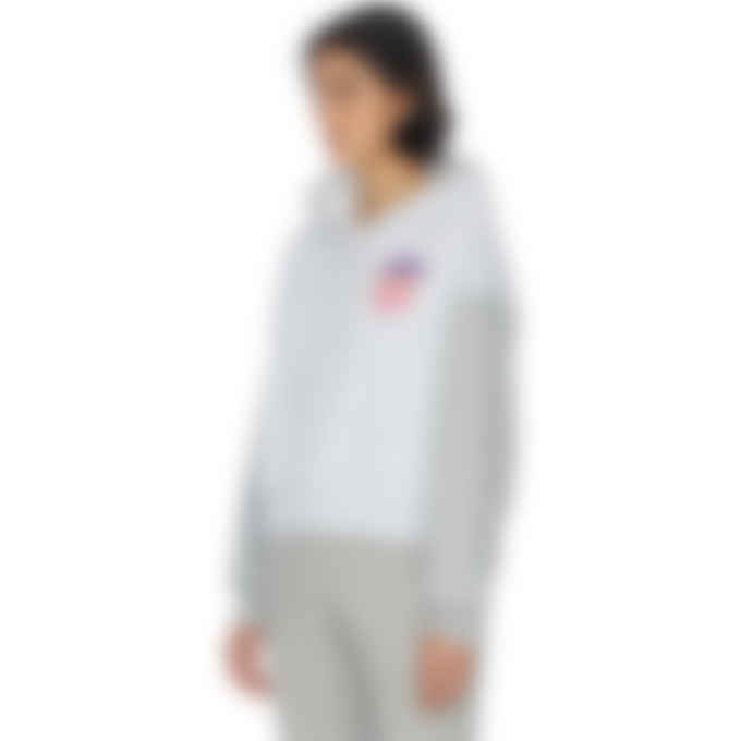 adidas Originals - Logo Play Cropped Hoodie - Light Grey Heather