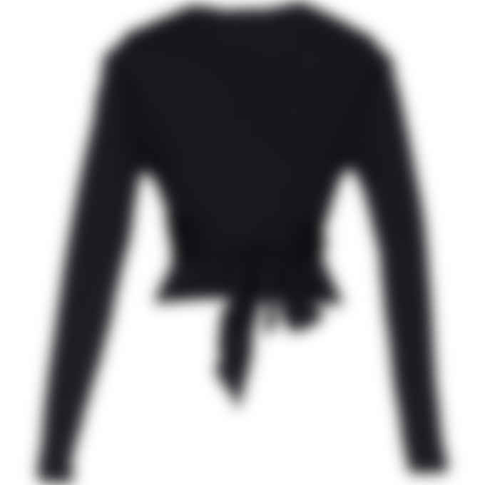 Reebok - Cardi B Long Sleeve Crop Top - Black