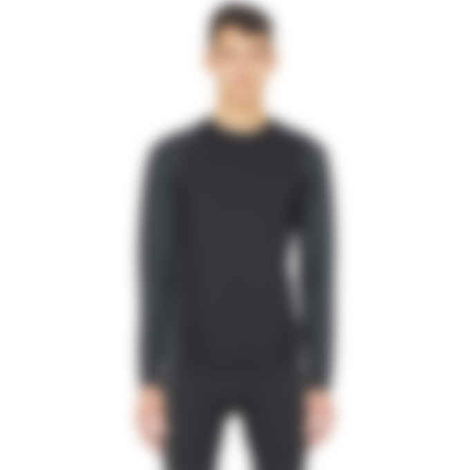 Y-3 - Classic Knit Base Layer Long Sleeve T-Shirt - Black/Carbon