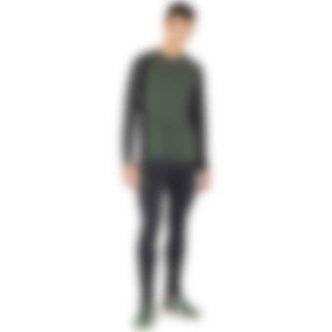 Y-3 - Classic Knit Base Layer Long Sleeve T-Shirt - Semi Flashy Green/Super Green
