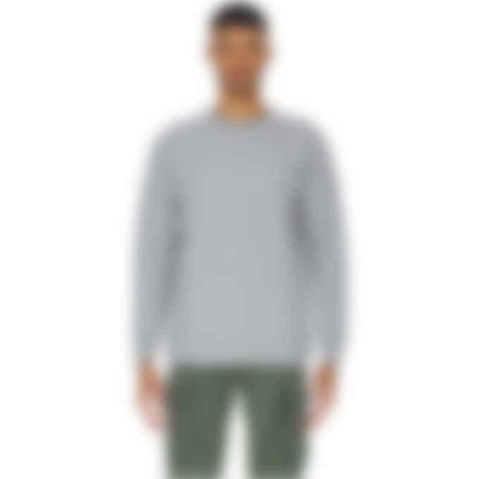 Y-3 - Classic Merino Blend Knit Crew Pullover Sweater - Medium Grey Heather