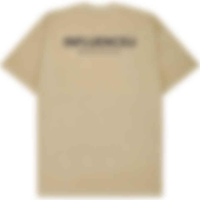 influenceu - Heavy Pigment Dyed Jersey Logo T-Shirt - Mushroom