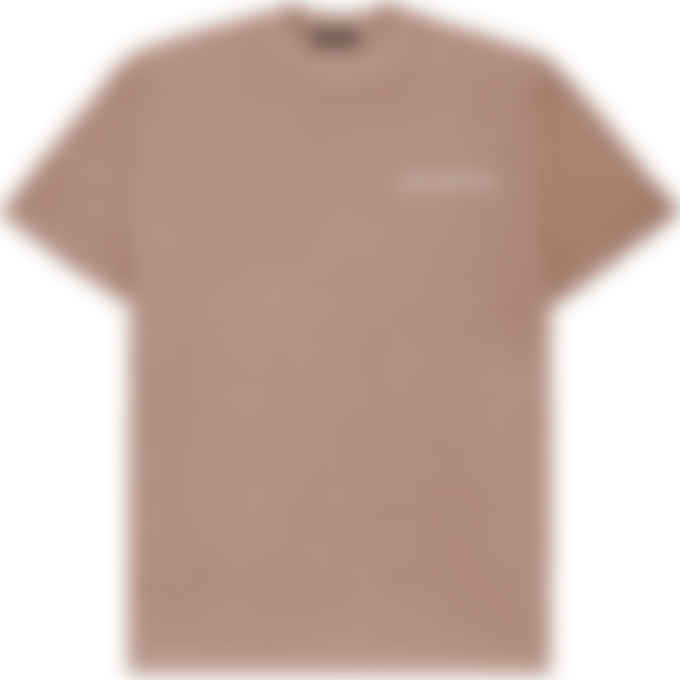 influenceu - Heavy Pigment Dyed Jersey Logo T-Shirt - Patchouli