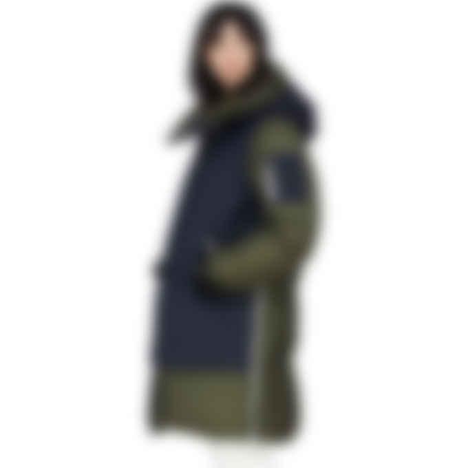 Mackage - Inari Mixed Puffer Jacket - Navy/Army