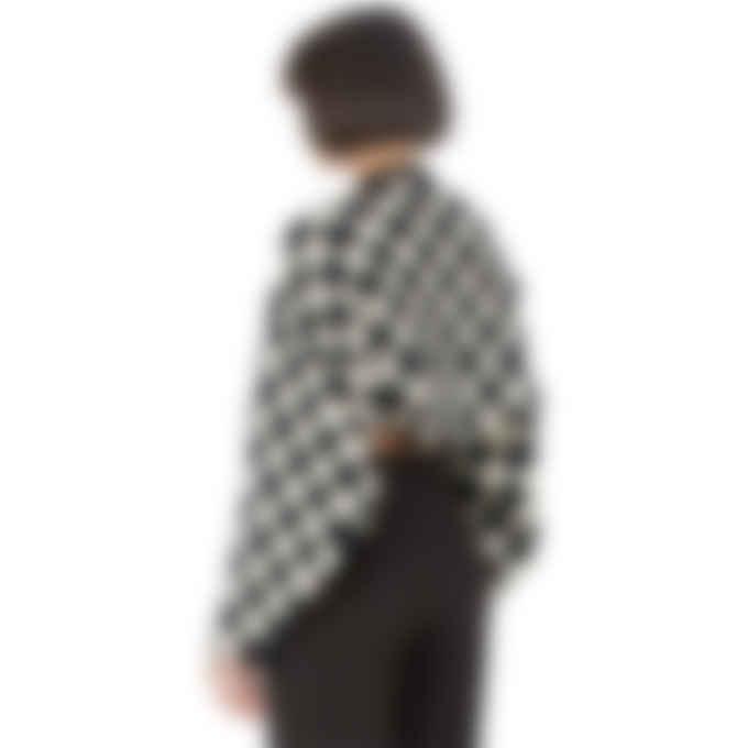 influenceu - Check Knit Bolero Sweater - Black