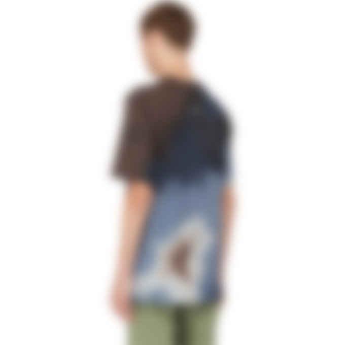 MAUNA-KEA - Tie-Dye Logo T-Shirt - Brown