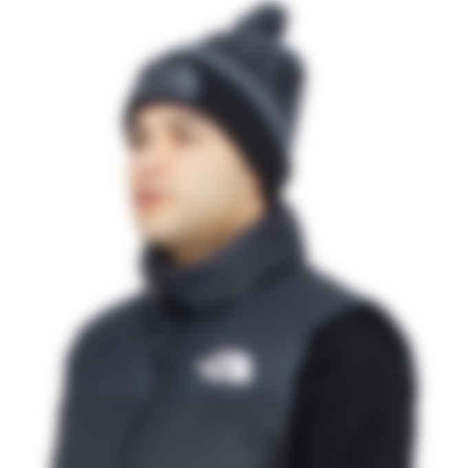 The North Face - Retro Pom Beanie - Vanadis Grey/TNF Black