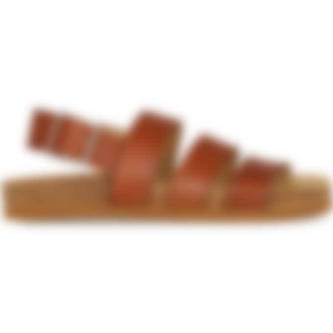 A.P.C. - Raphaelle Sandals - Nut Brown