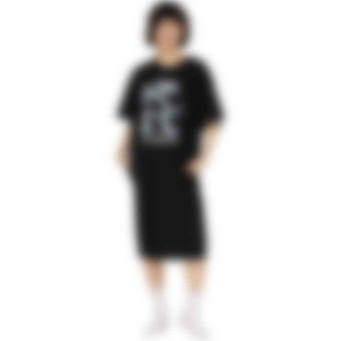 MM6 Maison Margiela - Oversized Logo Midi T-Shirt Dress - Black