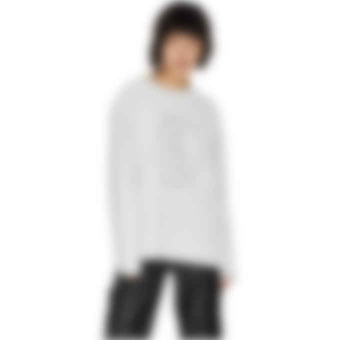 MM6 Maison Margiela - Logo Long Sleeve T-Shirt - Grey