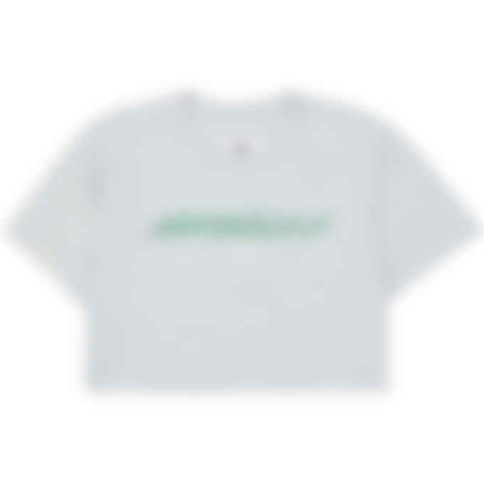 MM6 Maison Margiela - Retro Logo Cropped T-Shirt - Grey