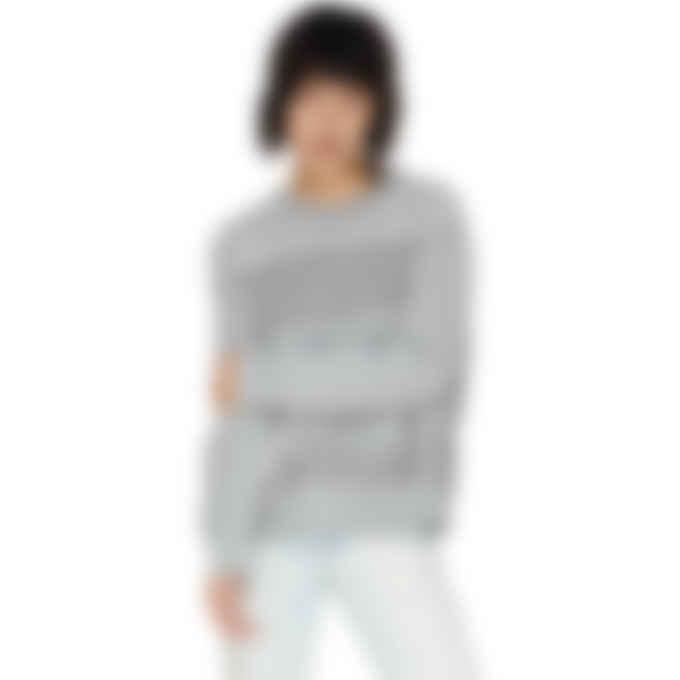 MM6 Maison Margiela - Fringe Pullover Sweater - Grey
