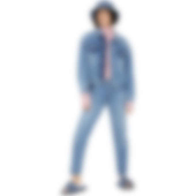 MM6 Maison Margiela - Shadow 5 Pocket Straight Leg Jean - Blue