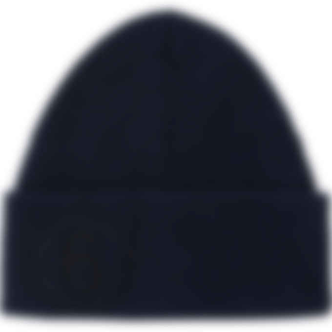 MM6 Maison Margiela - Logo Knit Beanie - Navy