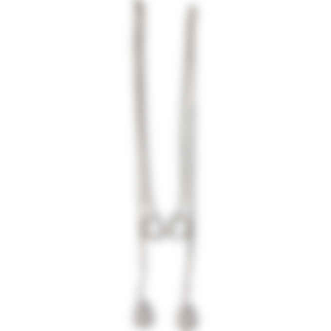 MM6 Maison Margiela - Missing Stone Drop Chain Earrings - Silver