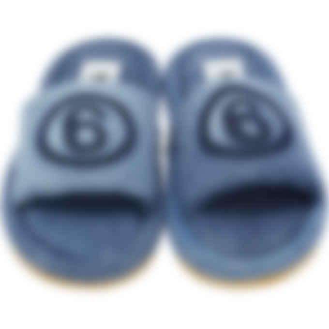 MM6 Maison Margiela - Shadow Logo Denim Sandals - Blue