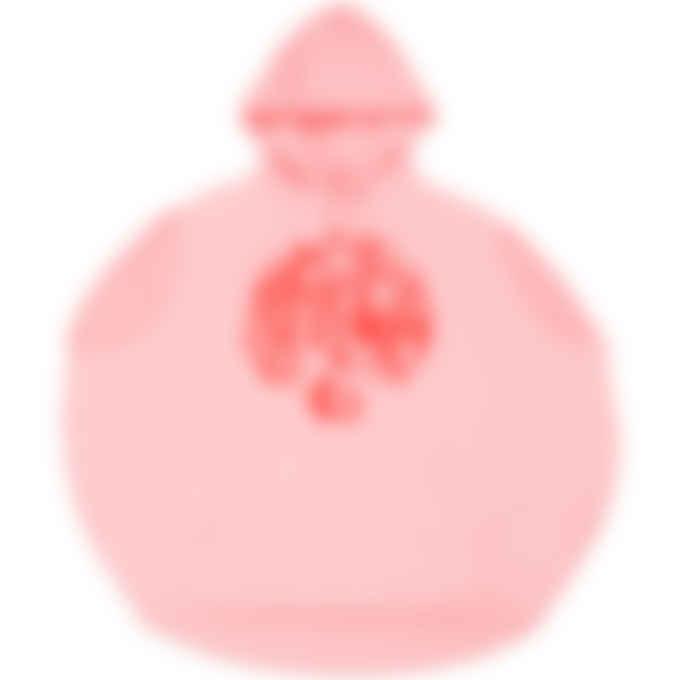 MM6 Maison Margiela - Oversized Cut Off Logo Circle Hoodie - Pink