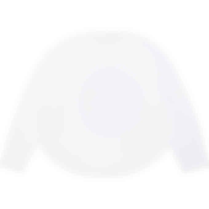 MM6 Maison Margiela - Oversized Bandana Logo Long Sleeve Circle T-Shirt - White