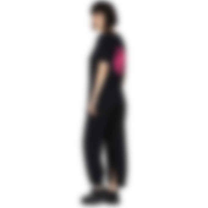 MM6 Maison Margiela - Oversized Neon Logo T-Shirt - Black