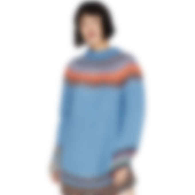 MM6 Maison Margiela - Fair Isle Sweater Dress - Blue/Grey