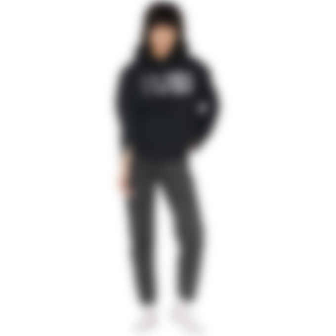 MM6 Maison Margiela - Oversized Logo Circle Hoodie - Black