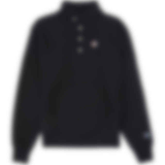 Champion - Reverse Weave 1/4 Snap Pullover Sweater - Black
