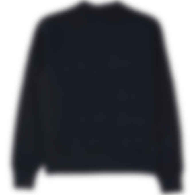 Champion - Reverse Weave Quilted Crew Pullover Sweater - Black