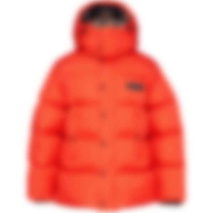 Dsquared2 - Check Wool Puffer Jacket - Orange