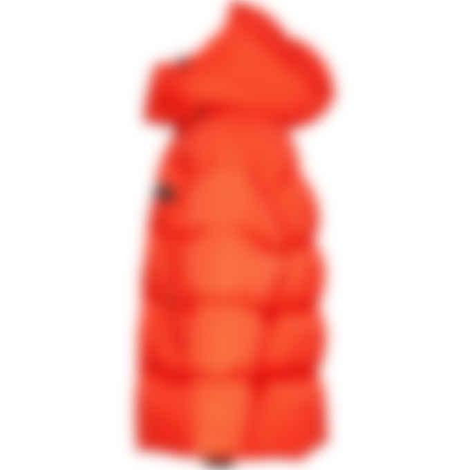 Dsquared2 - Check Wool Puffer Jacket - Orange