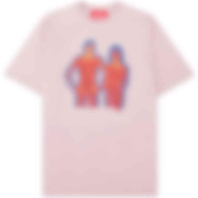 032c - 'Heat Mode' T-Shirt - Grey Purple